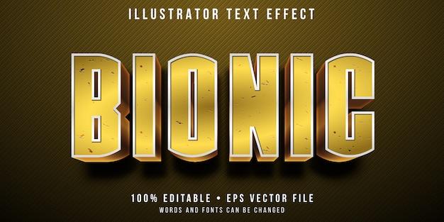 Edytowalny efekt tekstowy - bioniczny ludzki styl