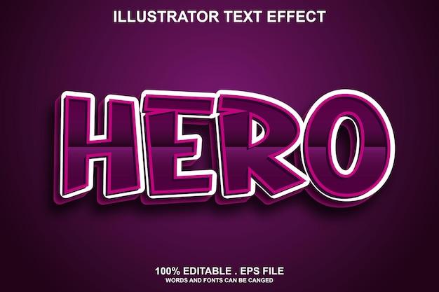 Edytowalny efekt tekstowy bohatera
