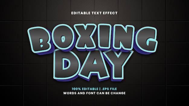 Edytowalny efekt tekstowy boxing day w nowoczesnym stylu 3d