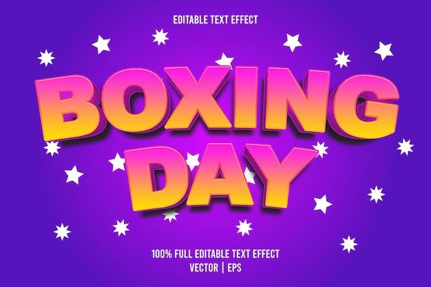 Edytowalny efekt tekstowy boxing day w stylu cartoon