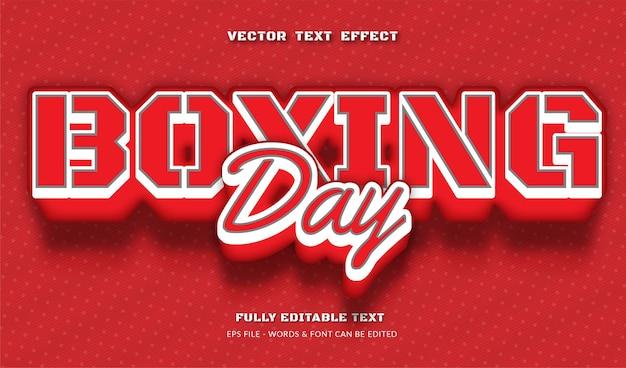 Edytowalny efekt tekstowy boxing day