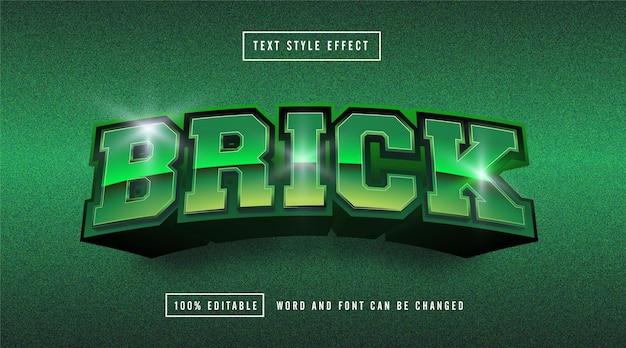 Edytowalny efekt tekstowy brick green