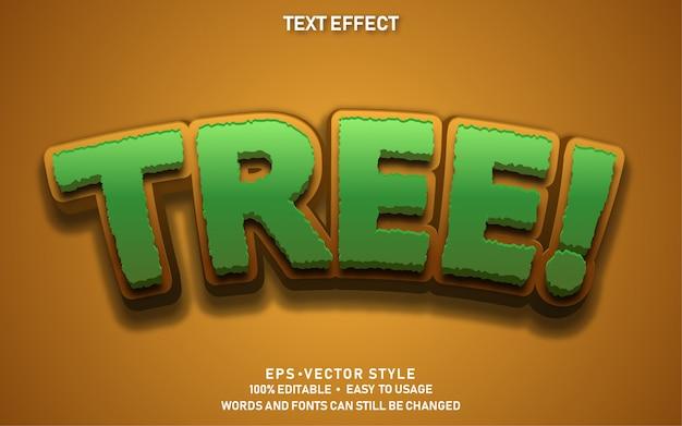 Edytowalny efekt tekstowy cute tree