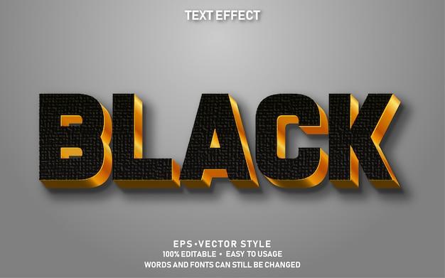 Edytowalny efekt tekstowy czarne złoto