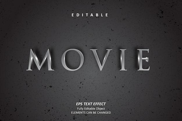 Edytowalny efekt tekstowy czarnego filmu