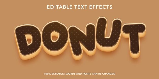 Edytowalny efekt tekstowy czekoladowy pączek