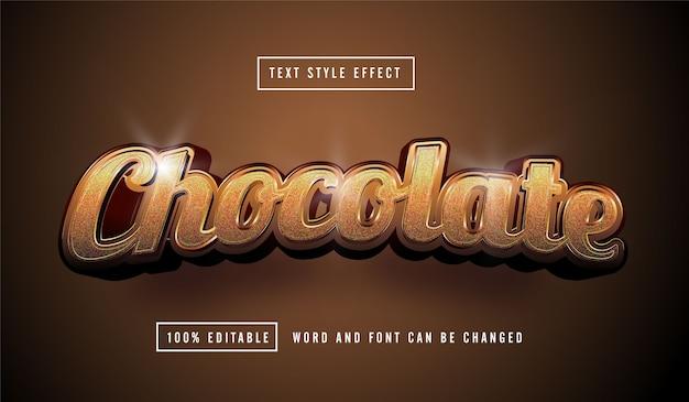Edytowalny efekt tekstowy czekolady