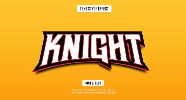 Edytowalny efekt tekstowy - czerwony styl e-sportu w grach