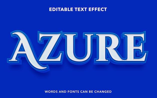 Edytowalny efekt tekstowy dla blue azure