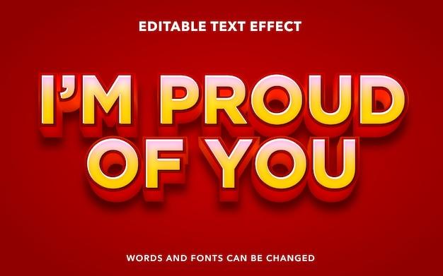 Edytowalny efekt tekstowy dla dumnego stylu tekstu