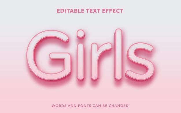 Edytowalny efekt tekstowy dla dziewczyn
