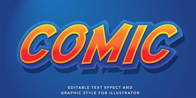 Edytowalny efekt tekstowy dla komiksowego stylu tekstu