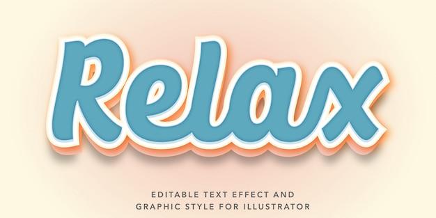 Edytowalny efekt tekstowy dla relaksującego stylu tekstu nastrojowego