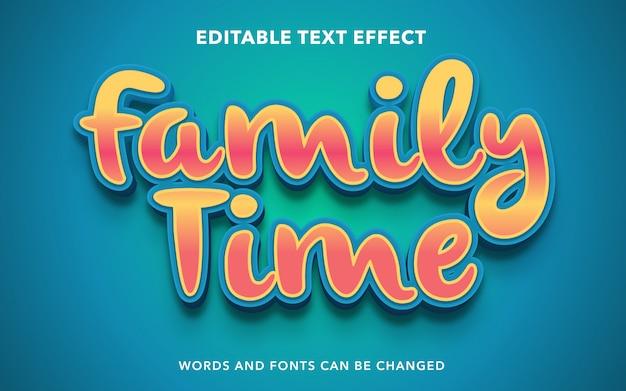 Edytowalny efekt tekstowy dla rodzinnego stylu tekstu