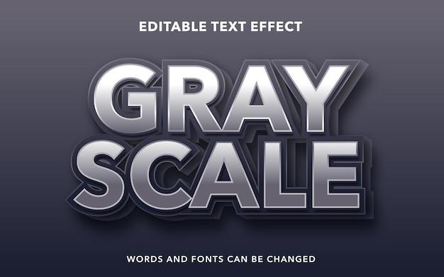 Edytowalny efekt tekstowy dla skali szarości