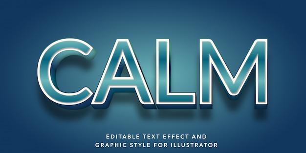Edytowalny efekt tekstowy dla spokojnego stylu tekstu