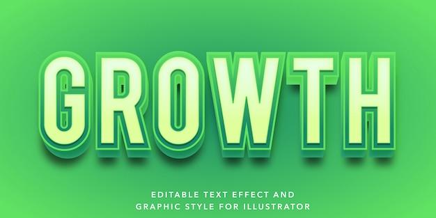Edytowalny efekt tekstowy dla stylu wzrostu