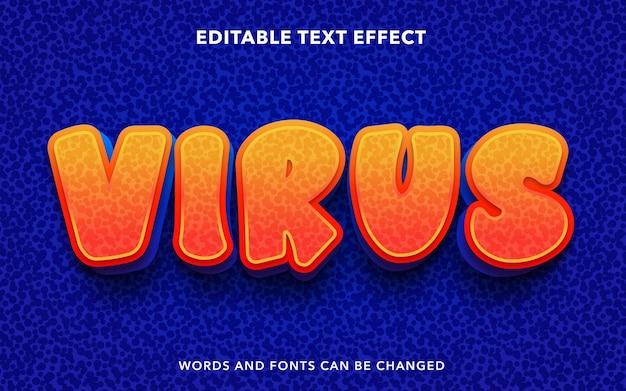 Edytowalny efekt tekstowy dla wirusa