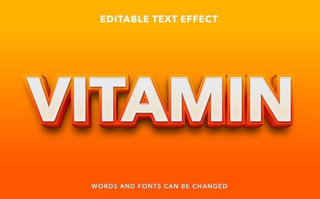 Edytowalny efekt tekstowy dla witaminy pomarańczowej