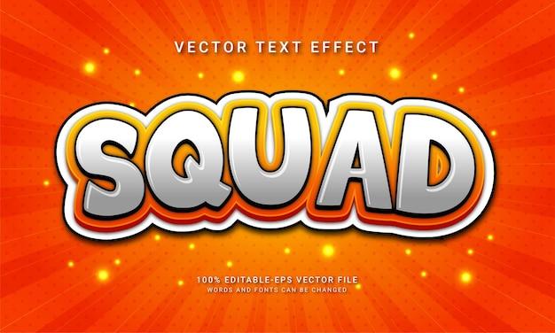Edytowalny efekt tekstowy drużyny