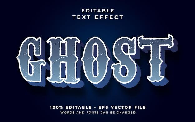 Edytowalny efekt tekstowy ducha