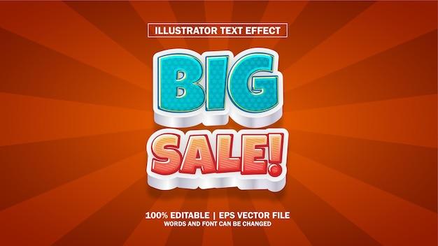 Edytowalny efekt tekstowy duża wyprzedaż