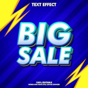 Edytowalny efekt tekstowy dużej sprzedaży