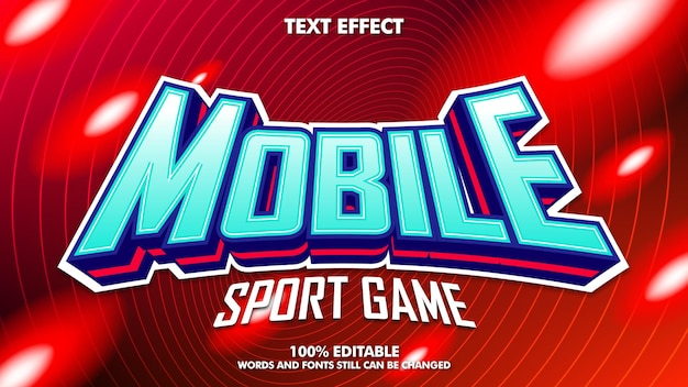 Edytowalny efekt tekstowy e-sportu mobilnego
