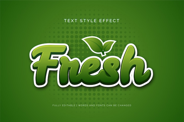 Edytowalny efekt tekstowy. efekt świeżego tekstu.