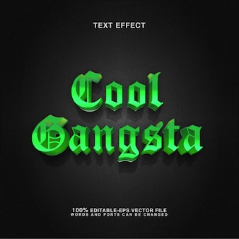 Edytowalny efekt tekstowy fajny styl gangsta