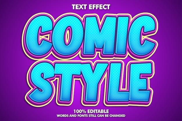 Edytowalny efekt tekstowy fantazyjnych kreskówek