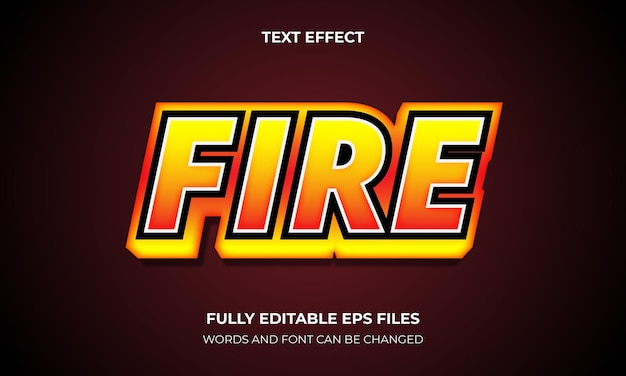 Edytowalny efekt tekstowy ffire 3d