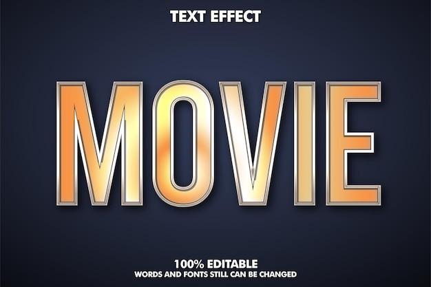 Edytowalny efekt tekstowy filmu złoty efekt tekstowy