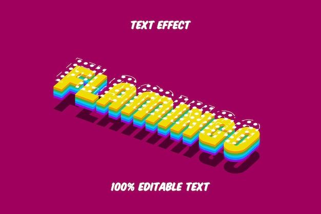 Edytowalny efekt tekstowy flamingo