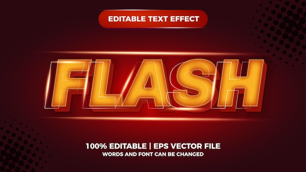 Edytowalny efekt tekstowy flash komiks