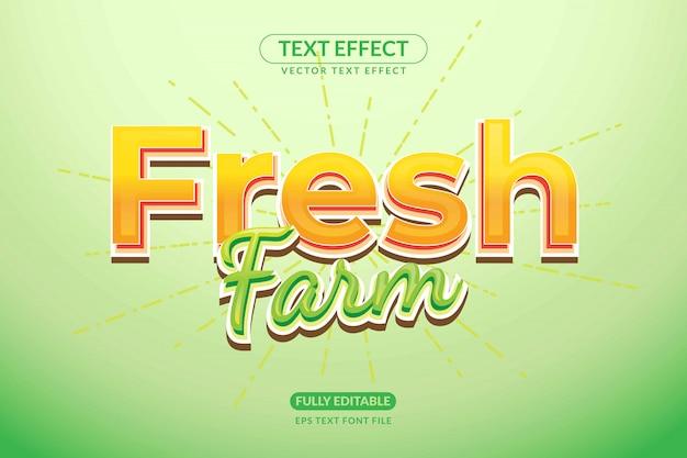 Edytowalny efekt tekstowy fresh farm