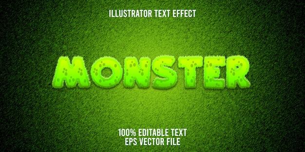 Edytowalny efekt tekstowy furry monster
