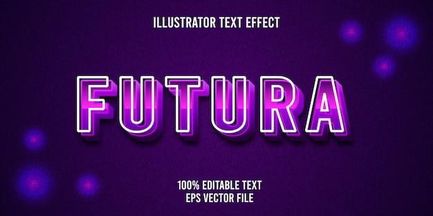 Edytowalny efekt tekstowy futura