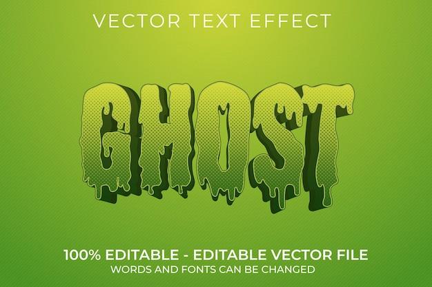 Edytowalny efekt tekstowy ghost 3d