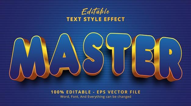Edytowalny efekt tekstowy, główny tekst w stylu zdarzenia nagłówka