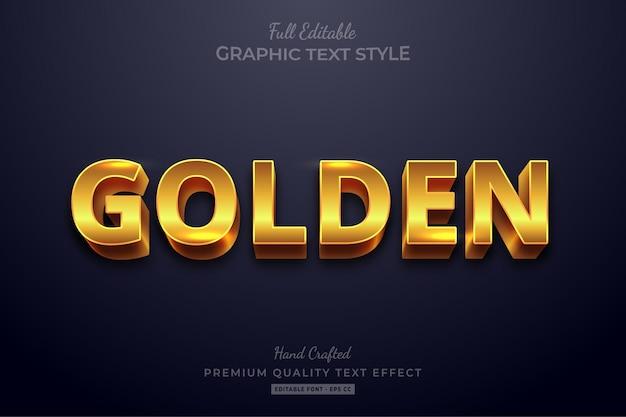 Edytowalny efekt tekstowy golden shine