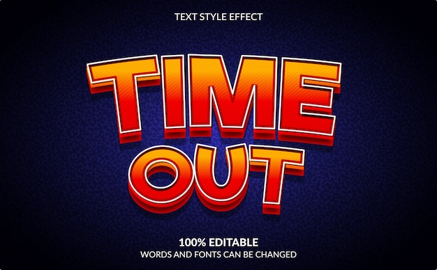 Edytowalny efekt tekstowy, gra wideo, styl tekstu time out