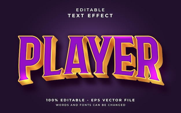 Edytowalny efekt tekstowy gracza