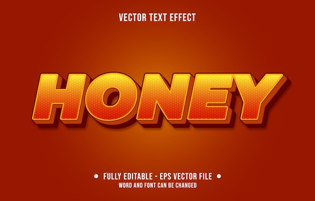 Edytowalny efekt tekstowy gradientowy pomarańczowy i żółty styl miodu
