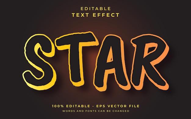 Edytowalny efekt tekstowy gwiazdy