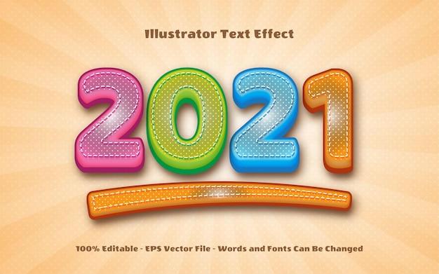 Edytowalny efekt tekstowy, ilustracje w stylu dziecięcym