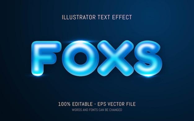 Edytowalny efekt tekstowy, ilustracje w stylu foxs