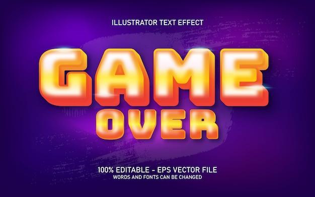 Edytowalny efekt tekstowy, ilustracje w stylu game over
