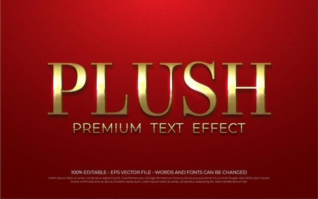 Edytowalny efekt tekstowy, ilustracje w stylu pluszowym