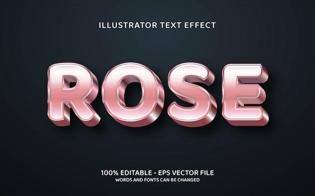 Edytowalny efekt tekstowy, ilustracje w stylu rose